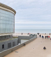 View from an apartment for six people in Ostend.